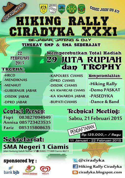 Pamplet HRCD XXXI SMAN 1 Ciamis 2015