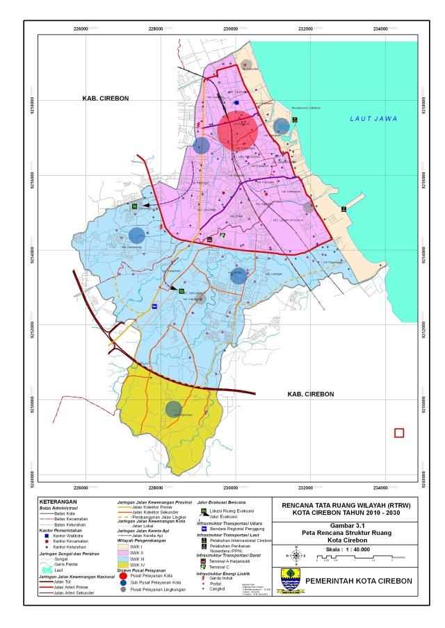 Peta Rencana Tata Ruang Wilayah Kota Cirebon