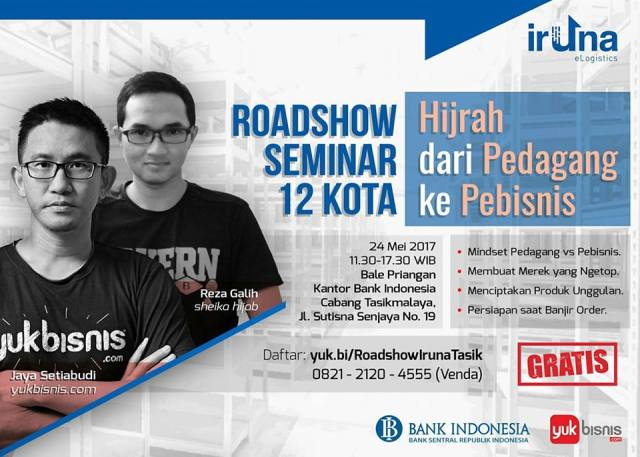 Roadshow Seminar 12 Kota Hijrah dari Pedagang ke Pebisnis Tasikmalaya